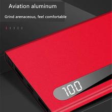 hot deal buy portable 10000mah power bank ultra-thin dual usb ports fast charge compact battery charger external battery bank powerbank