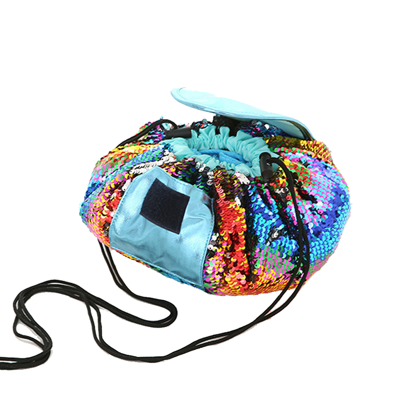 Virgin Make up Storage Bag Organizer Travel Large Capacity Round Cosmetic Bag Cordless Tow Cultural Bag Dead Home Page Supply