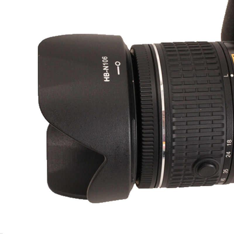 عدسة الكاميرا هود HB-N106 55 مللي متر حربة البتلة عكسها عدسة هود لنيكون D3400 D3300 D5300 AF-P DX 18-55 مللي متر f/3.5-5.6G VR عدسة