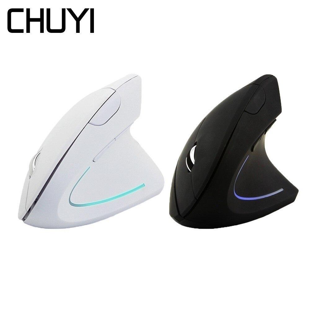 CHUYI эргономичная Вертикальная беспроводная мышь, компьютер, цветной светодиодный, игровая мышь 1600DPI USB оптическая 5D здоровая мышь с коврик д...