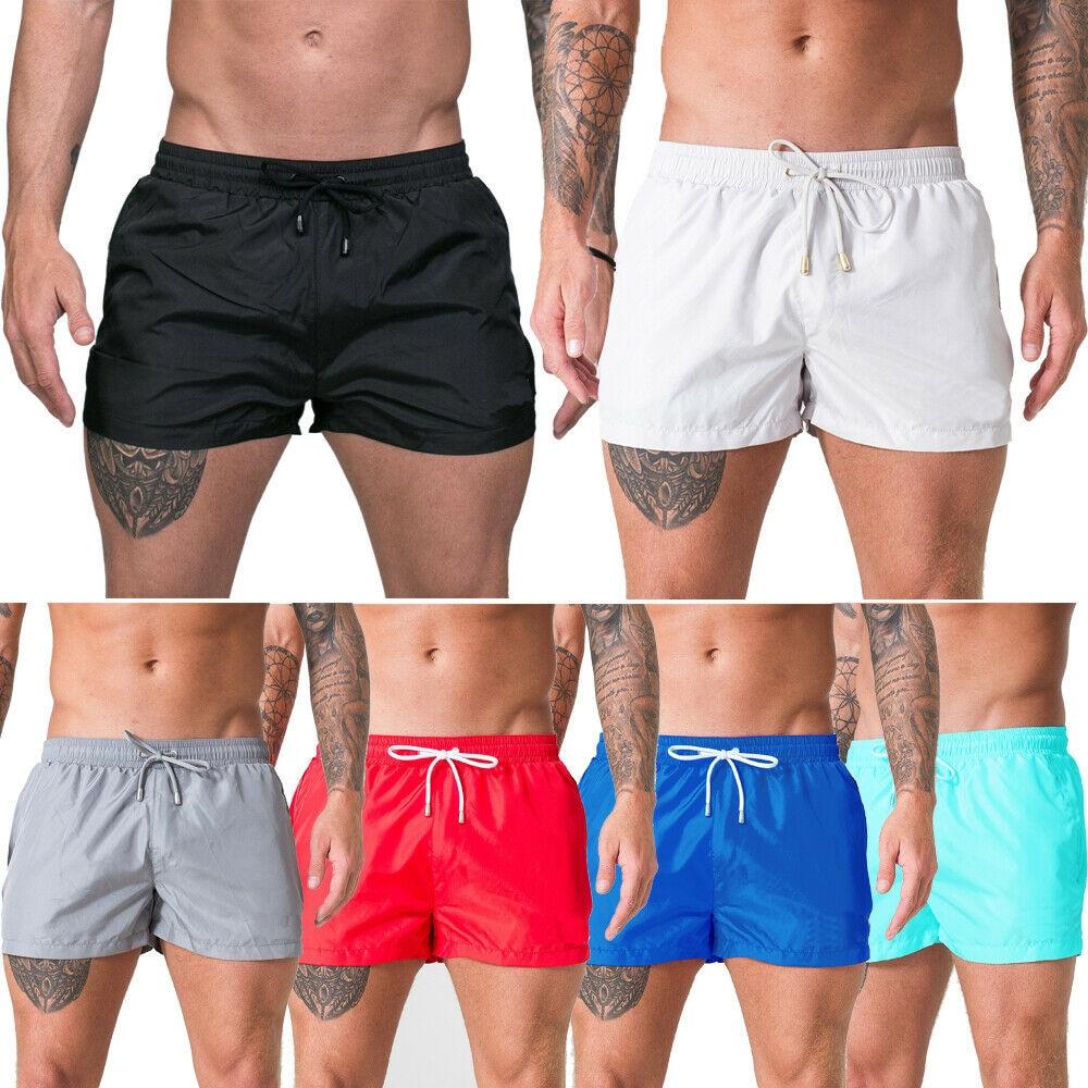 2019 NEW Fashion Men Casual Lace Up Sports Summer Cool  Swimwear Surf Board Trunks Swim Shorts Beach Shorts