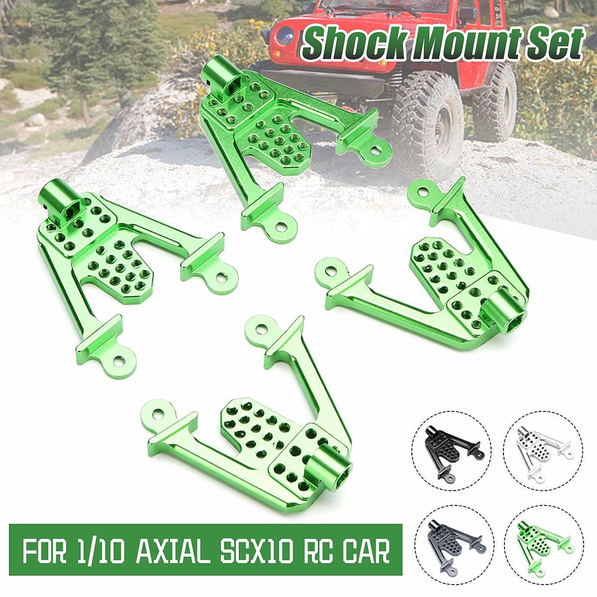 4PCS Aluminum Rear /& Front Shock Mount Lift chocs pour Axial SCX10 RC Crawler