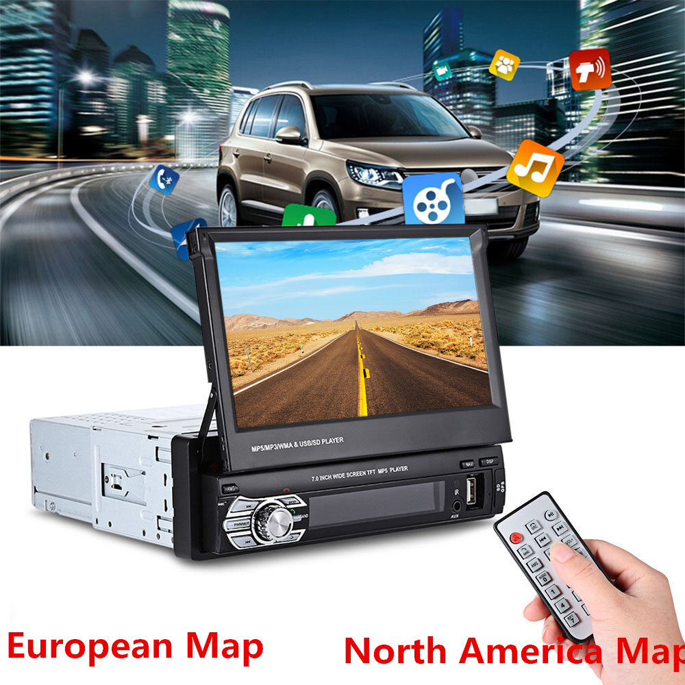 Clearance Universal 9601G 7.0 inch TFT LCD Screen MP5 Car Multimedia Player with Bluetooth FM Radio GPS European MapClearance Universal 9601G 7.0 inch TFT LCD Screen MP5 Car Multimedia Player with Bluetooth FM Radio GPS European Map