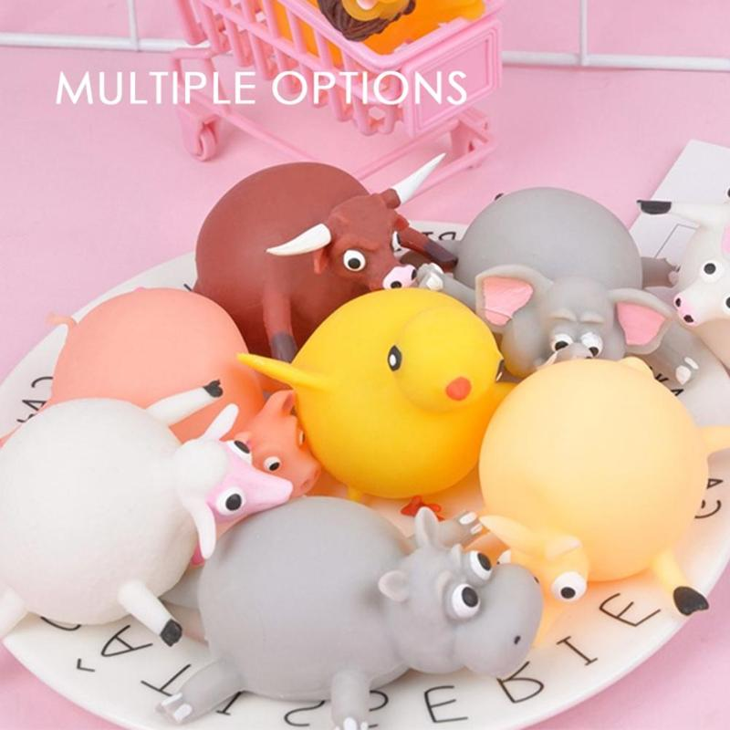 Cute Anti-Stress Toys Animals Patted The Ball To Blow Up Animal TPR Balloon Toy Kids Squeeze Toys Soft Relief Stress Toys Random