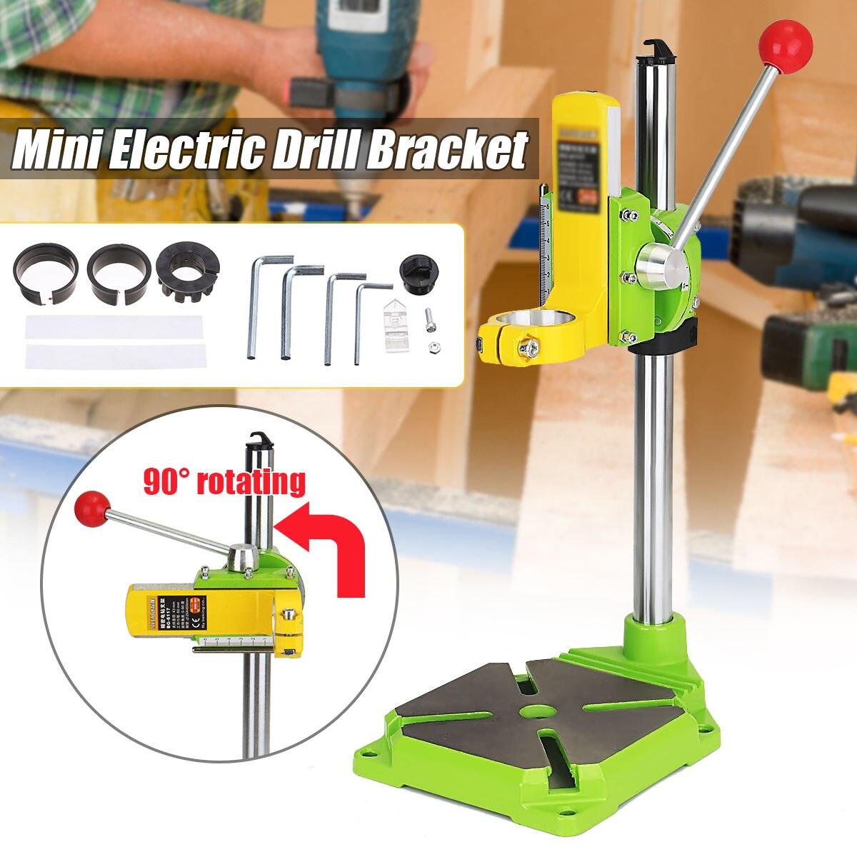 Perceuse électrique support de presse porte-table mandrin Durable perceuse pince support outils électriques perceuse support angle ajuster la base de fer
