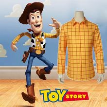 Woody de Toy Story Cosplay Traje Do Carnaval Chapéu de Cowboy Terno Homens Adultos do Dia Das Bruxas Partido Custom Made Superhero Só Colete Camisa Calças(China)