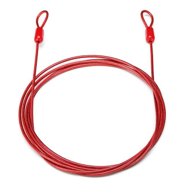 2 метра 200 см велосипед двойной защитный петля кабель сильный плетеный стальной для велосипеда велосипедов мотоциклов цепной замок полезный Противоугонный