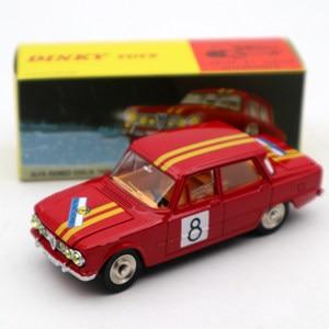 Image 5 - 1:43 Atlas Dinky oyuncaklar 1401 ALFA ROMEO 1600 TI ralli #8 Diecast modelleri sınırlı sayıda koleksiyonu