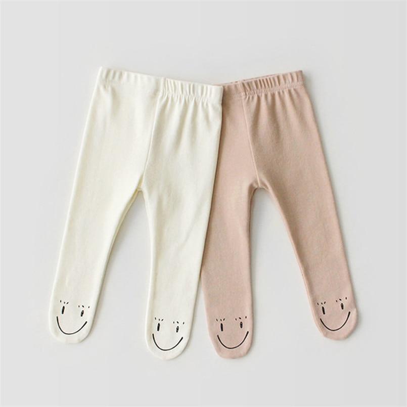 Smile Face Baby Leggings Spring Autumn Infant Baby Pantyhose Toddler Boy/girls Legging Kids Pants Children Trousers 0-24m