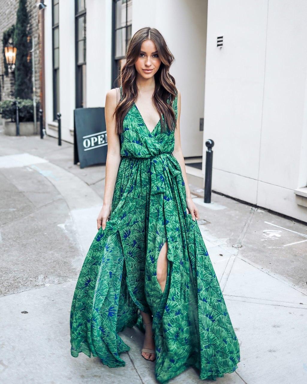 1e68f15341 Floral Print Dress Summer 2018 Sleeveless V Collar Sexy Maxi Dress Holiday  Backless Loose Dress Bohemian