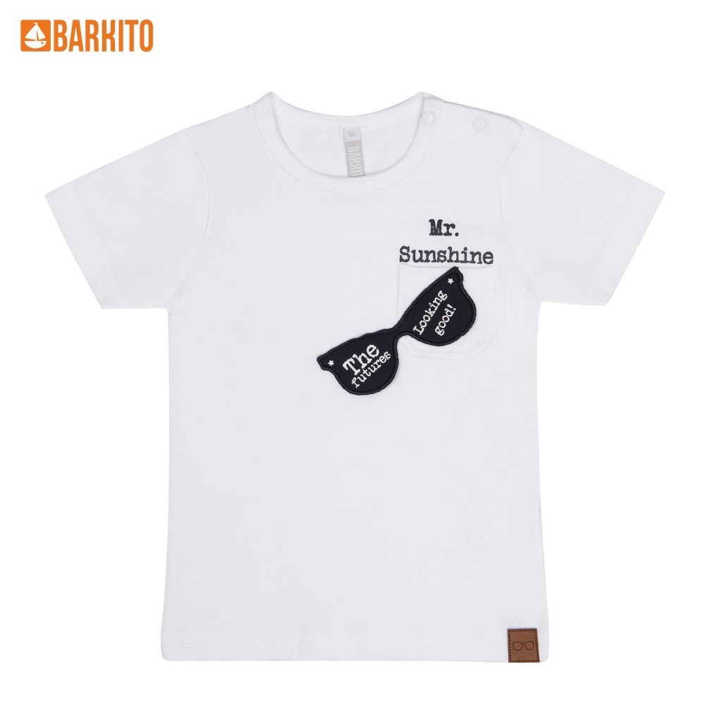 T-Shirts Barkito 338993 children clothing Cotton 31A-30462KOR1 White Boys Casual t shirts barkito 339006 children clothing cotton 32a 30475kor yellow boys casual