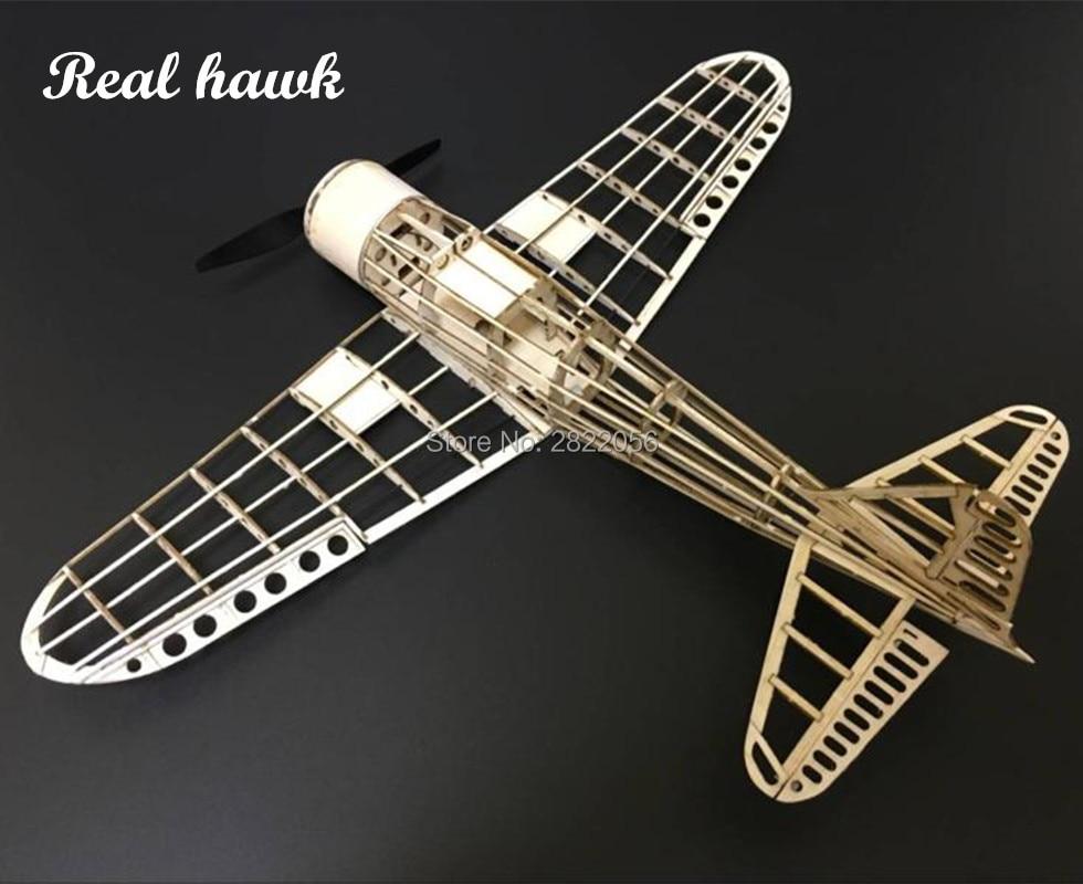 mini RC Plane Laser Cut Balsa Wood Airplane Kit Zreo A6M Model Building Kit free shipping