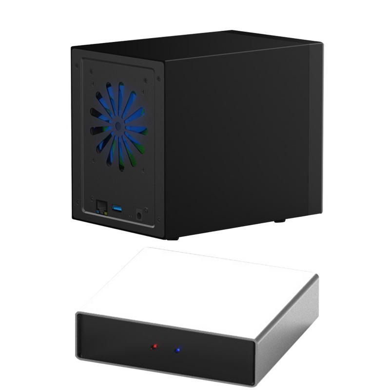 USB 3.0 1.1Hz Gbps NAS Smart Réseau HD Enclosure Double Disque Mini D'affaires Accueil Réseau De Stockage Serveur EXT4 DDR3 512 MB