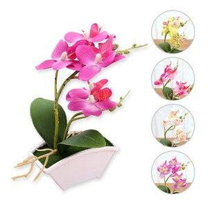 Image 2 - ผ้าไหมดอกไม้สีผีเสื้อประดิษฐ์ปลอมดอกไม้สีเขียวใบพืชดอกไม้Home Decorงานแต่งงาน