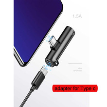Type c Adapter 2 In 1 To 3.5mm Jack Earphone Charging Converter Dual Audio Charger for Xiao mi 9 Huawei P20 Mate 20