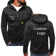 Spring antumn Hoodies Sweatshirts Men Free Personalise Customized Logo Printed Zip up Jackets Men Long Sleeve Casual Hoody Coats цена в Москве и Питере