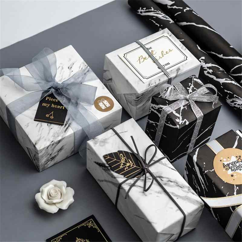 Luxury Wrapping Paper Marble Design Birthday Gift Wrapping Paper Diy Wrap Tools Flowers Bouquet Packaging Decorative Paper Decor
