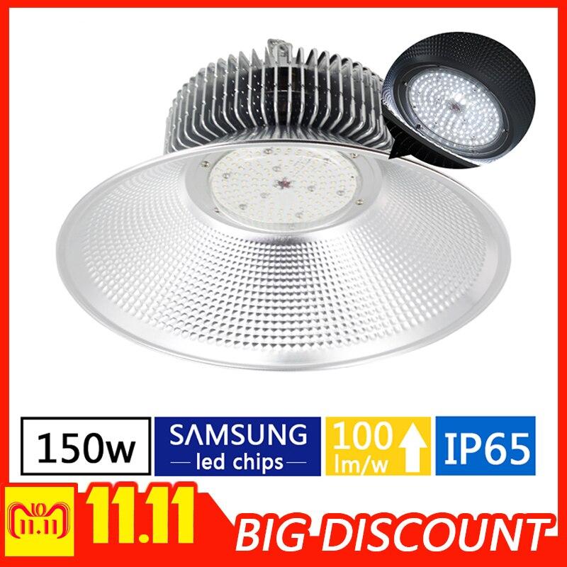 150w LED high bay lamp warehouse industrial lighting garage lighting working light 220v 110v led workshop light maid workshop цена