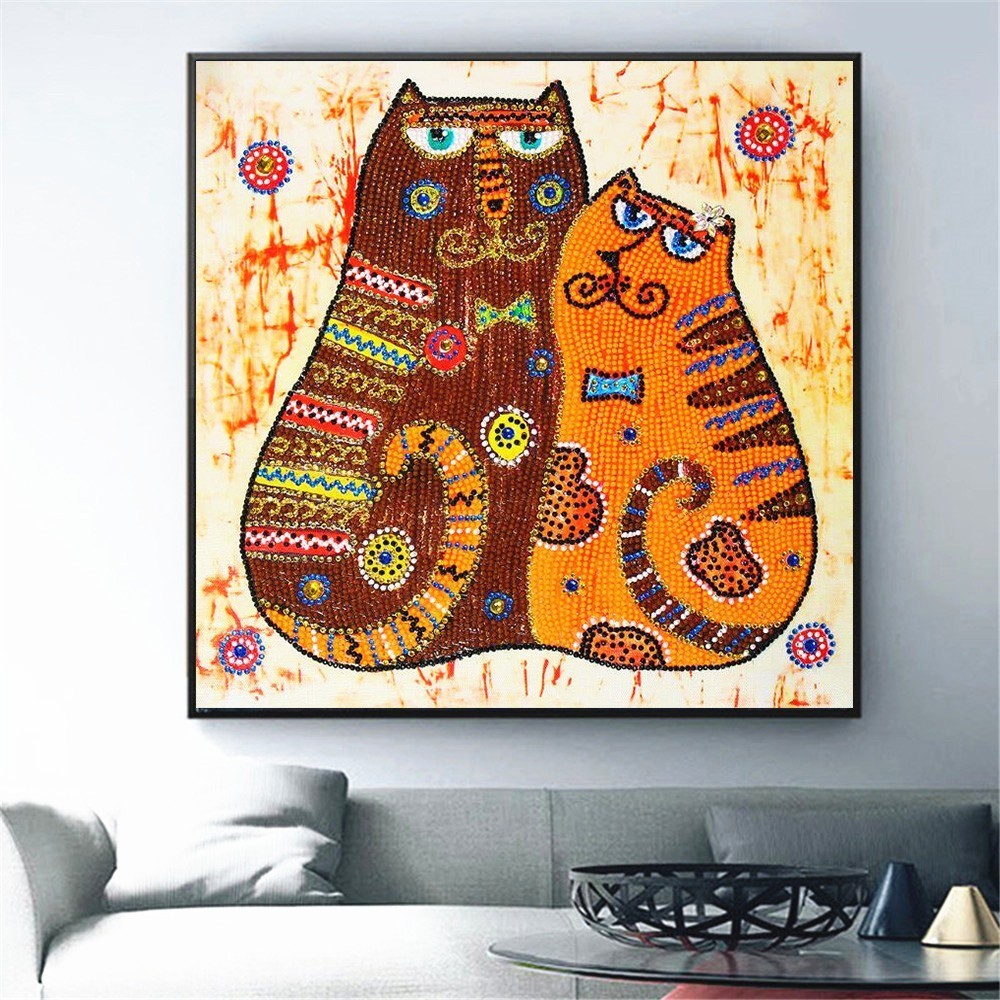 Huacan Special Shaped Diamond Painting Cat Animal Rhinestone 5D DIY Diamond Embroidery Mosaic Unfinished Handmade Home DecorHuacan Special Shaped Diamond Painting Cat Animal Rhinestone 5D DIY Diamond Embroidery Mosaic Unfinished Handmade Home Decor