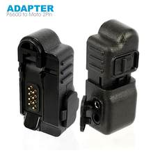Xir P6600 MTP3250 Plus Walkie Talkie Adapter om M-type 2 Pin Geschikt voor Motoluola GP88 Twee Manier Radio headset Microfoon Accessoires(China)