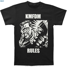 GILDAN KMFDM Mens Rules T-shirt Black  Loose Short Sleeve Shirts O-Neck Sunlight Men T Shirt Cute Tatoo Lover T-Shirt