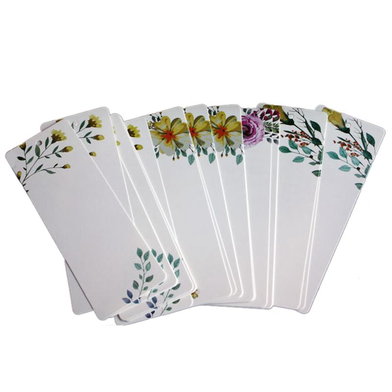 PPYY NEW -40pcs/lot DIY Creative Retro Flower Bookmark Book Mark Message Cards Bookmarks