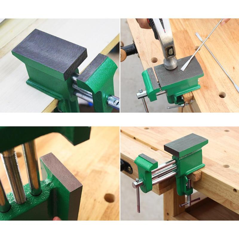 Multi-functional Woodwork Heavy Table Vise Cast Iron Bench Vice Desktop Fixing Clamp Woodworking Tools цена