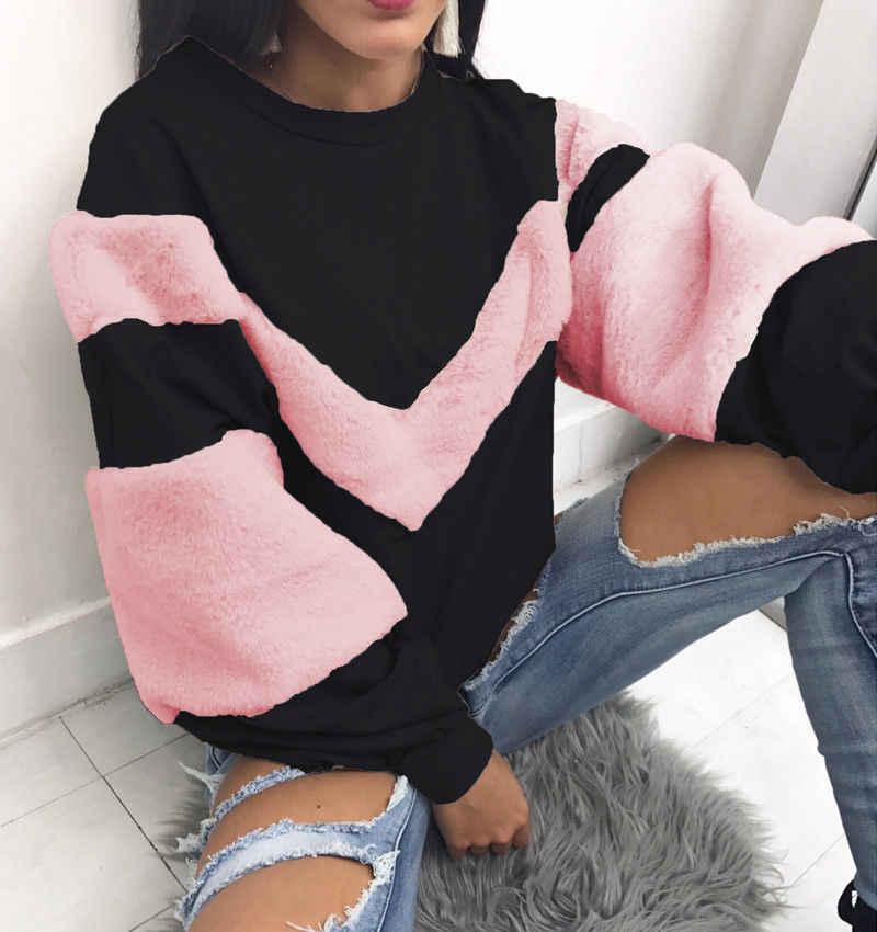HIRIGIN lo más nuevo caliente de las mujeres de manga larga suéter sudaderas Casaul sudadera Jumper Pop caliente moda chica otoño traje