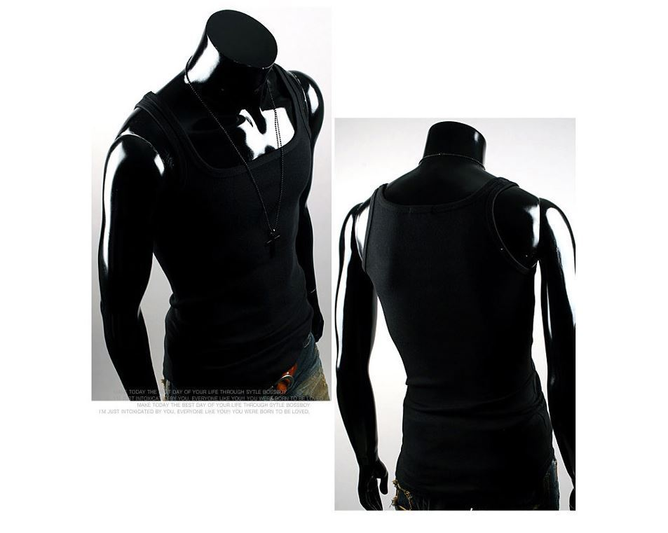 New Men's Muscle Sleeveless Basic   Tank     Top   Tee Sports Gym Fitness Vest