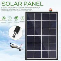LEORY 6V 6W Polysilicon Solar Panel Solar System DIY For Battery Cell Phone Chargers Portable Solar Cell with Cable & Border