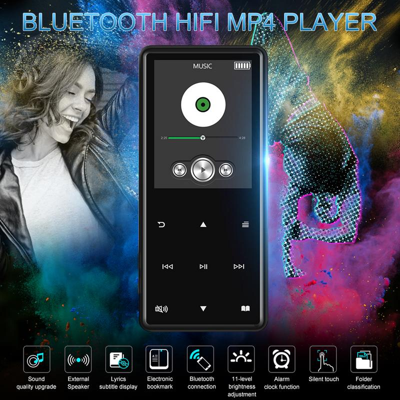 Unterhaltungselektronik Bluetooth Mp4 Player Portable Media Musik Player 2,4 Zoll Touch Tasten Radio Fm Radio Hifi Video 8 Gb 16 Gb Tragbares Audio & Video