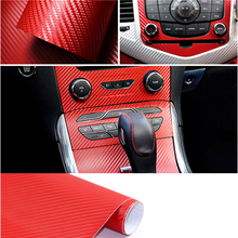 Universal Waterproof Carbon Fiber Color Changing Wrap Car Decorative Sticker 3D DIY Vinyl Film External Interior Car Styling universal diy pvc carbon fiber decorative car sticker black 30 x 127cm