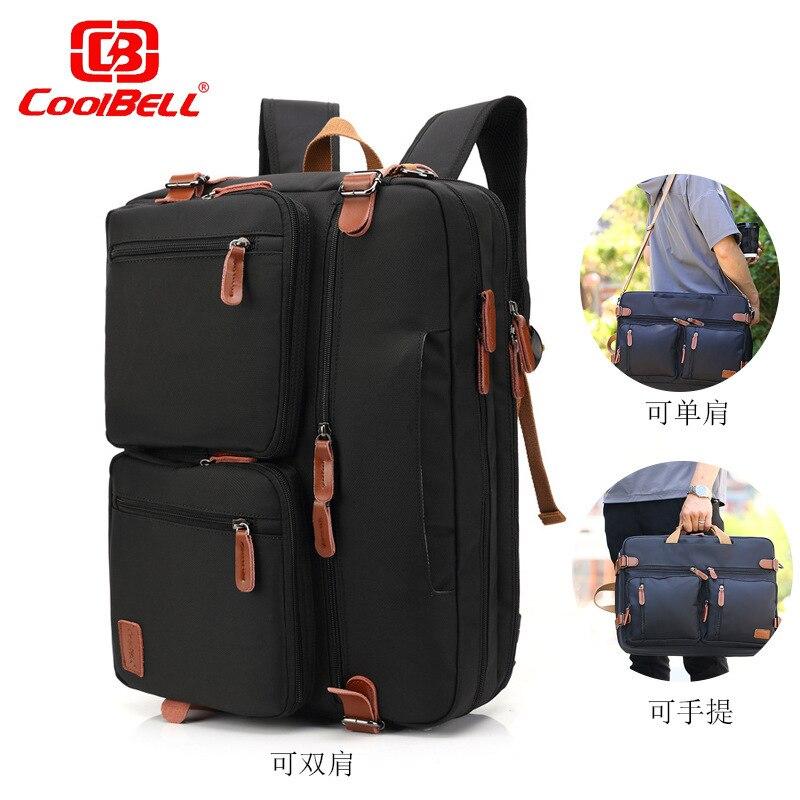 Multifonction 17.3 pouces ordinateur portable sac à bandoulière Convertible sac à dos pour hommes femmes voyage sac à dos sac d'affaires