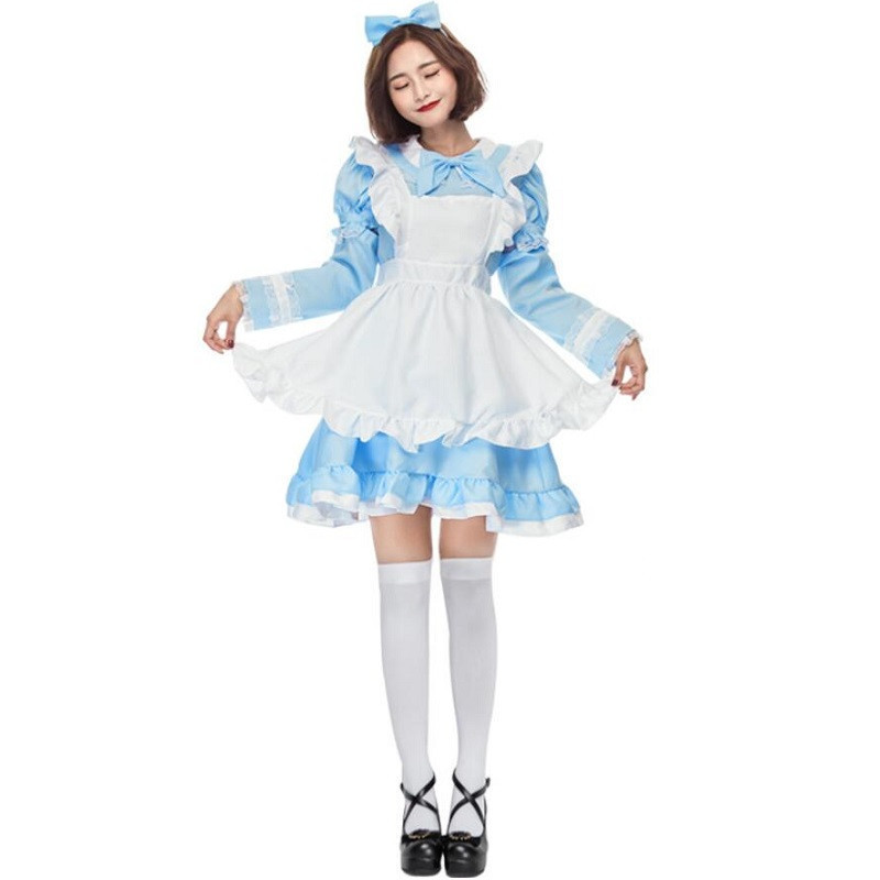 Robe de princesse pour femme robe Lolita gothique victorienne Halloween Costume de Lolita Cosplay robe en couches pour femme de chambre jeux Cosplay