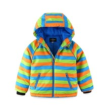 Mingkids High Quality Waterproof Windproof Spring Autumn Warm Winter Jacket For Boys Outdoor Rainbow Puff