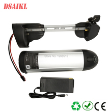 Electric bicycle frame battery pack 36V 8Ah 10Ah with 42v 2a charger for 250W Sondors ebike