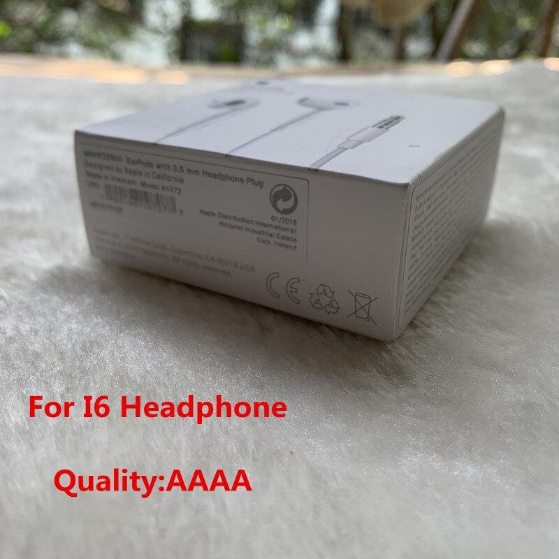100 個の高品質品質耳イヤホン用のリモートマイクと iphone 5 5s 6 6 S プラス紙ボックス  グループ上の 家電製品 からの 電話用イヤホン & ヘッドホン の中 1