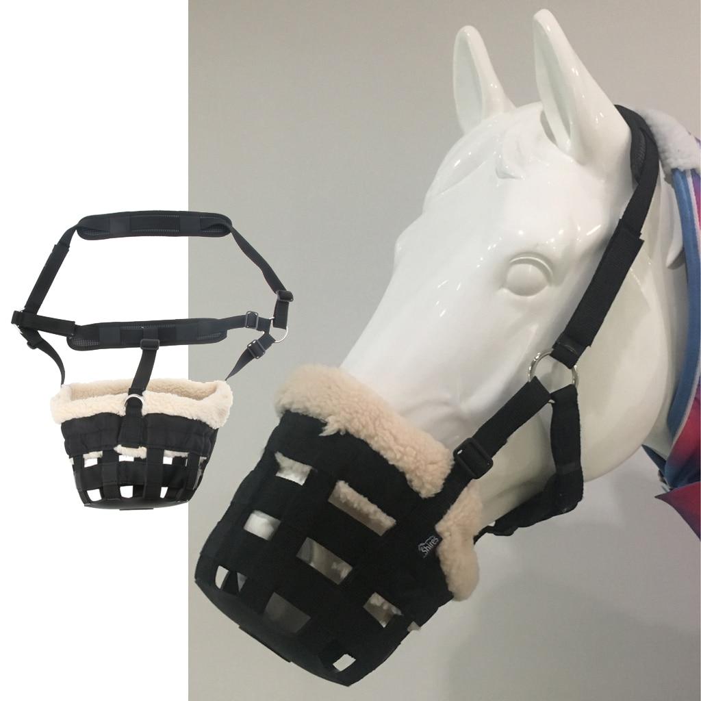 Horse Grass Muzzle Equestrian Equipment Supplies For Men Women Outdoor Horse Riding