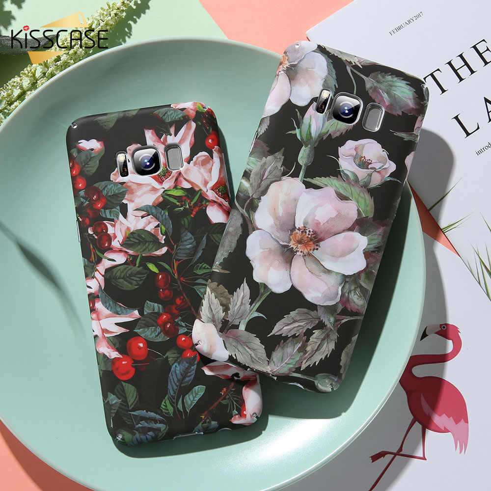 KISSCASE feuilles tropicales étui de téléphone pour xiaomi mi 8 Lite Play Fla mi ong fleur impression dur PC couverture arrière pour rouge mi Note 7 cas