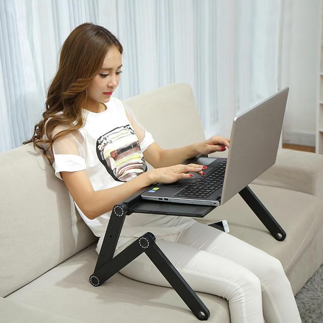 Homdox 360 градусов Регулируемая Складная стол для портативного компьютера ноутбука настольная подставка с мышь Совета руководство пользовате...