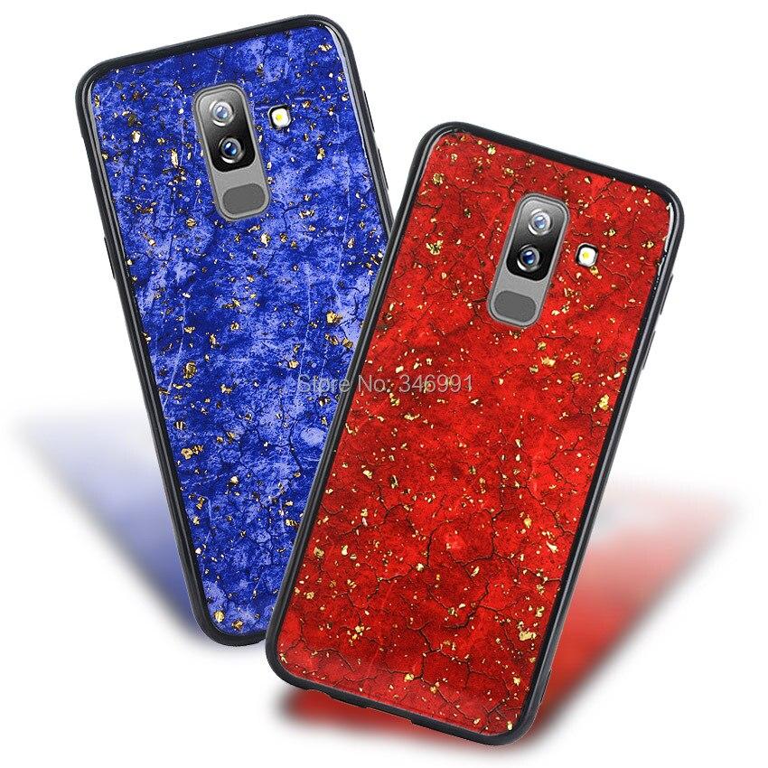 A6 Plus 2018 Cover for samsung galaxy A6 Plus 2018 Case Soft silicone Marble Luruxy Funda for samsung A6 Plus 2018 Coque Cases