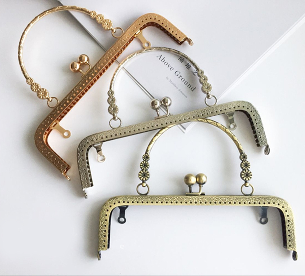 Luggage & Bags The Cheapest Price 3pcs 8.5cm 10.5cm 12.5cm 15.5cm 18cm 20.5cm White Pearl Head Metal Handle Purse Frame For Bag Sewing Craft Tailor Sewer