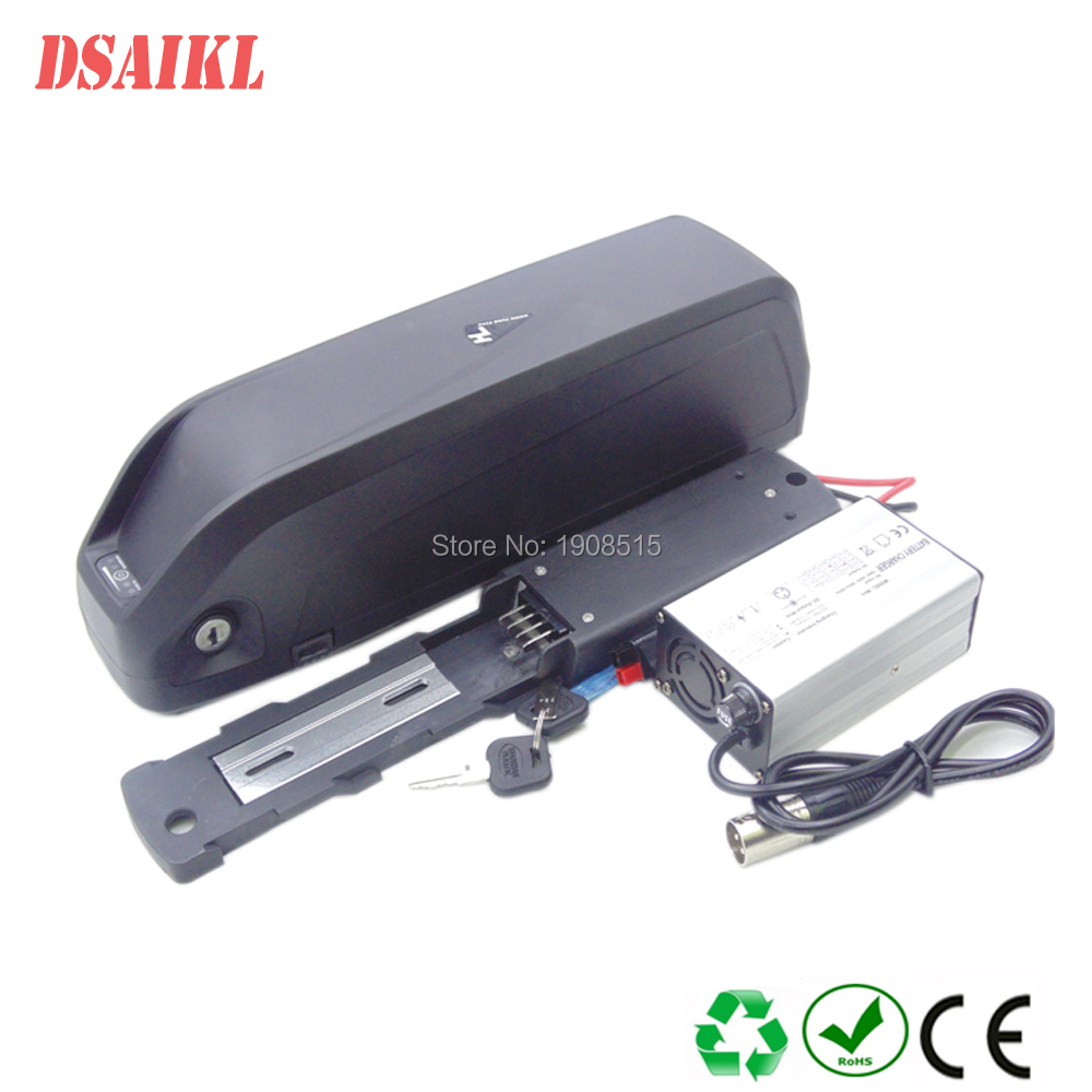 Free shipping Li-ion ebike battery 48V 17.5Ah big Hailong down tube battery with charger for 500W 750W 1000W fat tire bike MTB