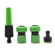 hot deal buy 4pcs garden hose connector set spray tool nozzle tap fitting watering kits for gardening irrigation supplies