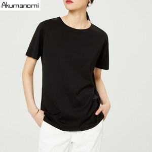 Image 2 - Summer Cotton T shirt 2019 Women High Quality Plus Size 7XL O neck Short Sleeve Black Gray White Tee Phone Pouch Camiseta Mujer