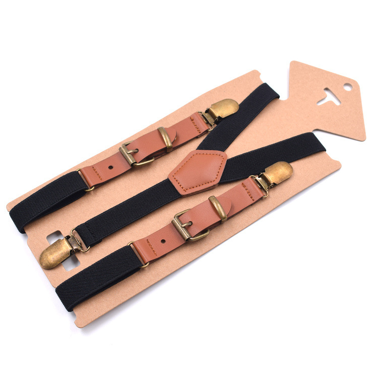 2019 New Cross-border Branded Straps For Adults 3 Clips Fashionable Y-type Straps For Leisure Suspenders 10 Colors 2.0 Patchwork