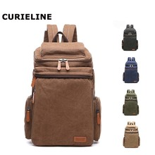 2019 New design backpack leisure for laptop vintage duffel canvas