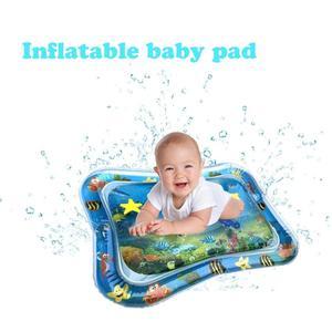 Image 1 - תינוק ילדים מים לשחק מחצלת מתנפח תינוקות בטן זמן Playmat צעצועים לילדים קיץ שחייה חוף בריכת משחק מגניב שטיח צעצוע