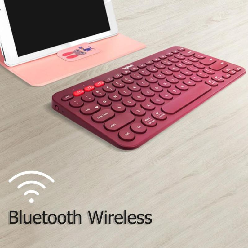Image 3 - Logitech K380 Multi Device Bluetooth Wireless Keyboard for Mac  Chrome Windows Ultra thin Tablet Keypad for iPhone iPad  AndroidKeyboards