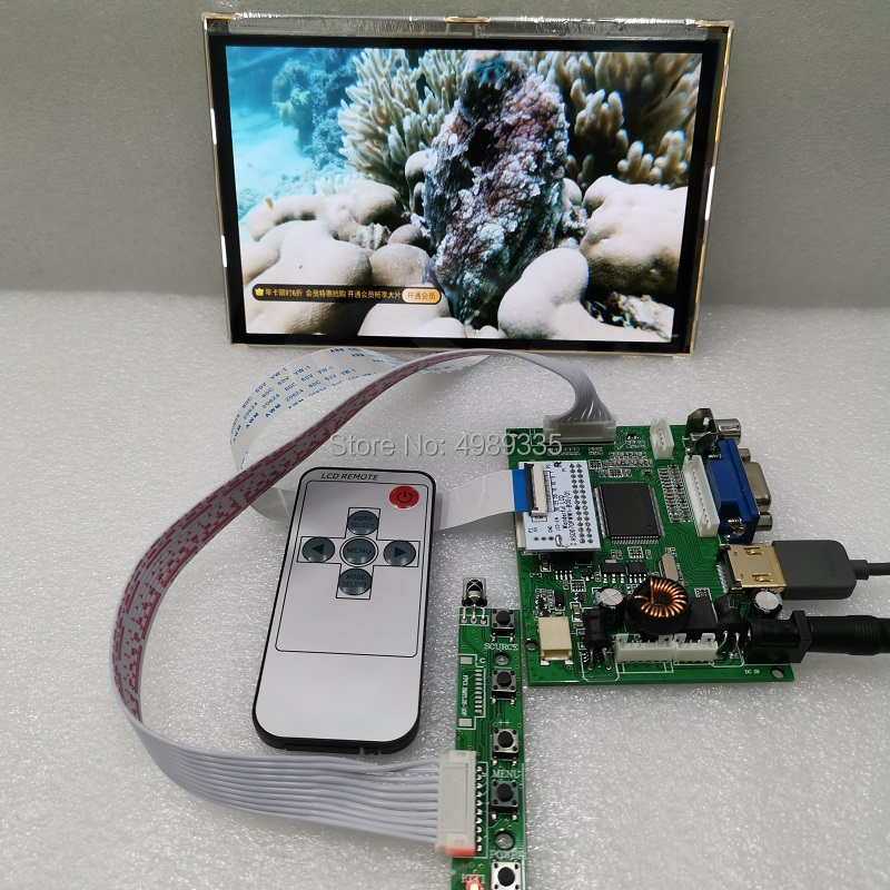 7 IPS LCD Panel Module Kit HSD070PWW1 1280 * 800 Raspberry Pi HDMI + 2 AV + VGA DIY Kit